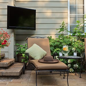 Outdoor backyard tv